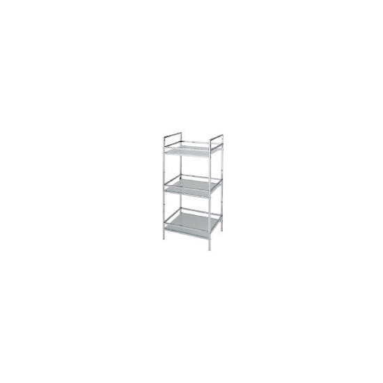 Chrome 3 Tier Spa Unit with Glass Shelves