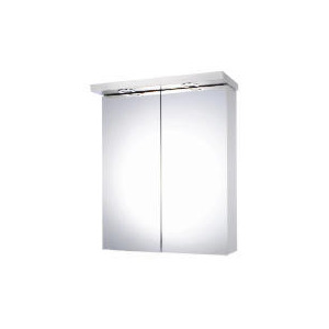Photo of Mirror Fronted Double Door Bathroom Cabinet With Light Household Storage