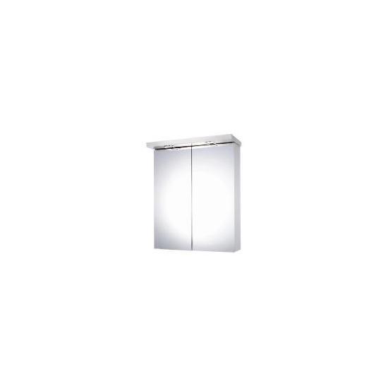 Mirror Fronted Double Door Bathroom Cabinet with Light