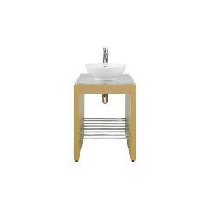 Photo of Beech Vanity Sink Unit Furniture