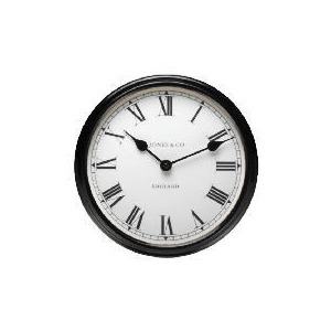 Photo of Jones & Co Piccadilly Black Wall Clock Clock