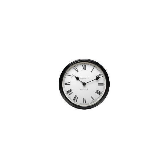 Jones & Co Piccadilly Black Wall Clock