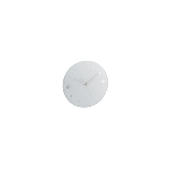Frosted Glass and Mirror Wall Clock