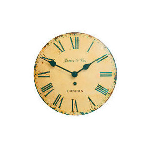 Photo of Jones & Co Tin Convex Wall Clock Home Miscellaneou