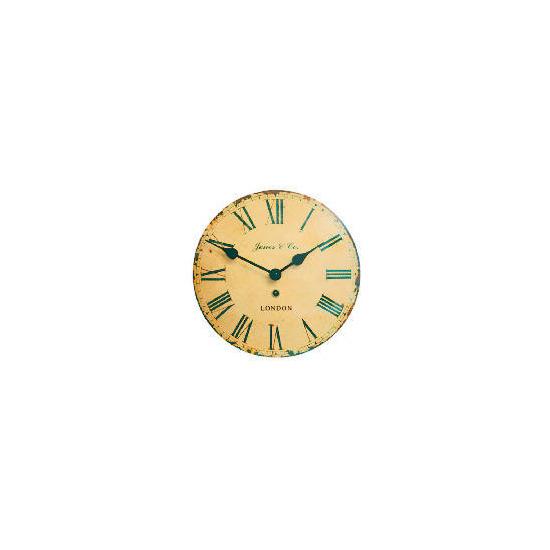 Jones & Co Tin Convex Wall Clock