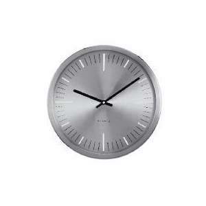 Photo of Contemporary Silver Effect Wall Clock Clock