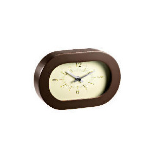 Photo of LC Retro Contemporary Brown Mantle Clock Clock
