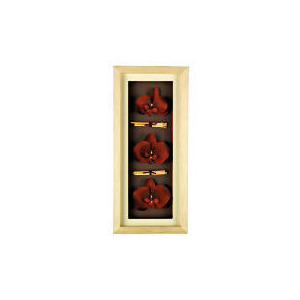 Photo of Red Orchid Oblong 3D Print Wooden Frame Home Miscellaneou