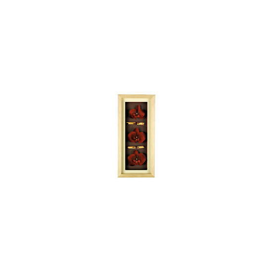 Red Orchid Oblong 3D Print Wooden Frame