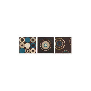 Photo of Modern Circles Blue Canvas Triple Pack Home Miscellaneou