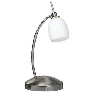 Photo of Swan Neck Satin Nickel Finish Desk Lamp Lighting