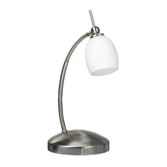 Swan Neck Satin Nickel Finish Desk Lamp