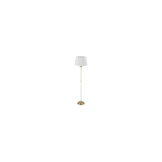 Antique Brass floor lamp pleated shade