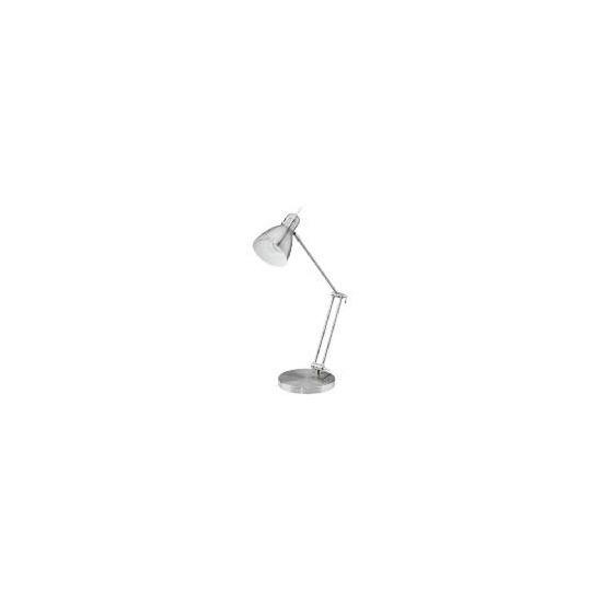 Tesco Large Arm Satin Nickel Finish Desk Lamp