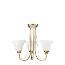 3 arm fitting, Antique brass ceiling light Reviews