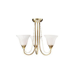 Photo of 3 Arm Fitting, Antique Brass Ceiling Light Lighting