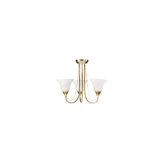 3 arm fitting, Antique brass ceiling light