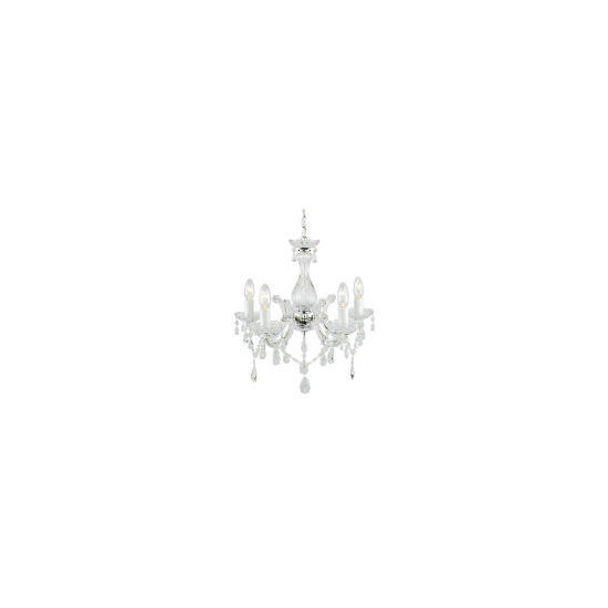 Maria Therese Five Light Ceiling fitting chrome