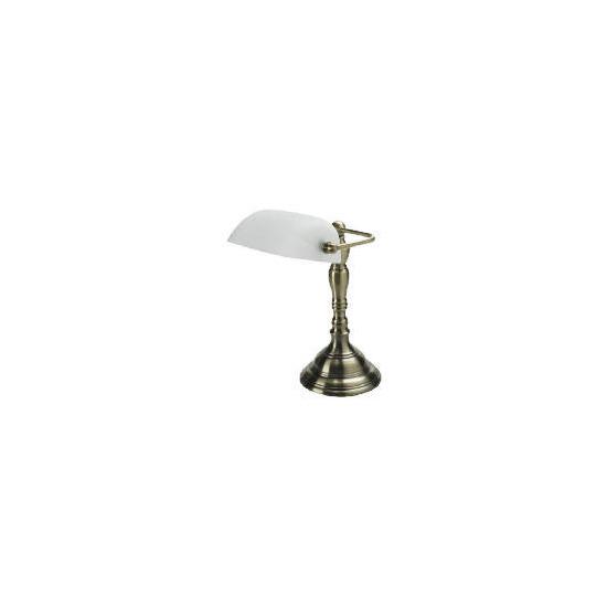 Alabaster & Antique Brass effect Desk Lamp