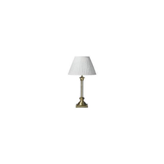 Glass Column Table Lamp