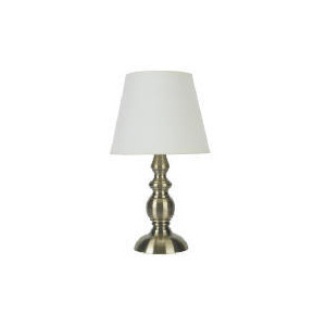 Photo of Candle Stick Antique Brass Effect Table Lamp Lighting