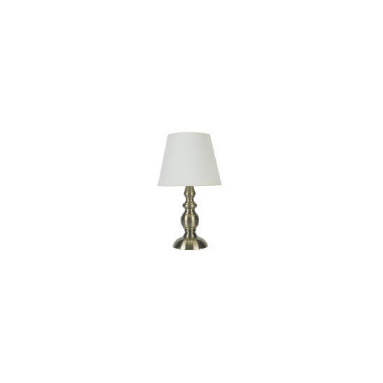 Candle Stick Antique Brass Effect Table Lamp