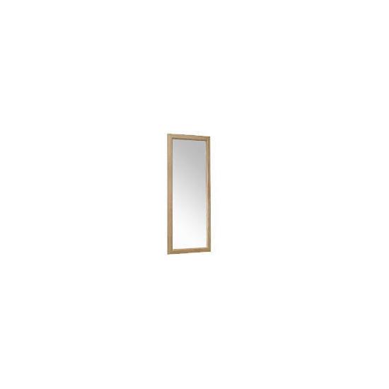 Tesco Oak Bevelled Mirror 42x100cm