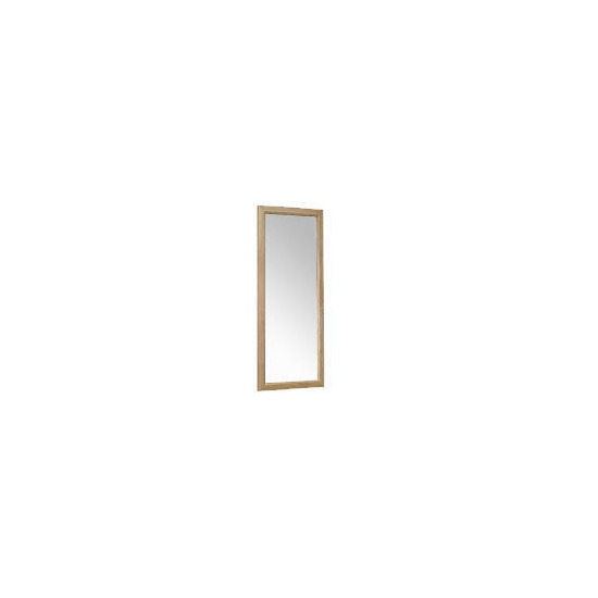 Tesco Oak Bevelled Mirror 42x100cm