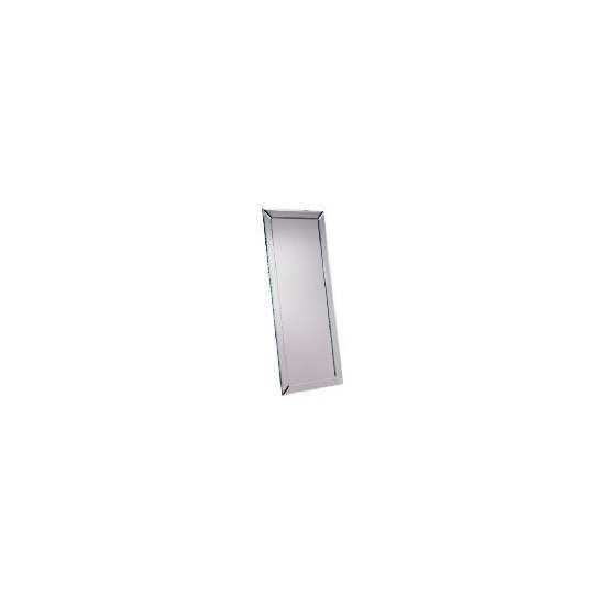 Contemporary Bevelled Mirror 42x100 cm