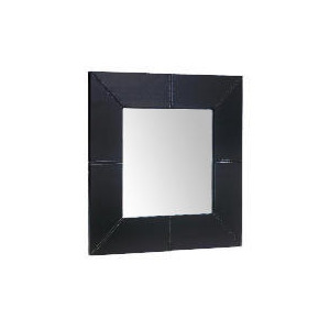 Photo of Tesco Faux Leather Mirror 50X50CM Home Miscellaneou