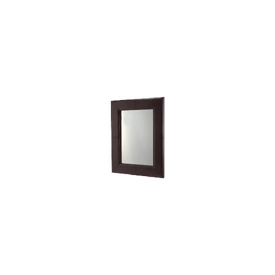 Faux Leather Mirror 106x81cm