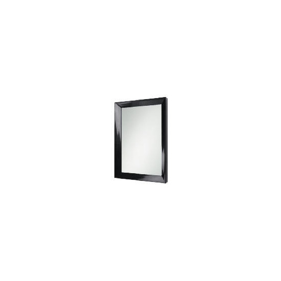 Black Lacquer Finish Mirror