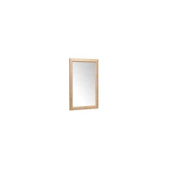 Tesco Oak Bevelled Mirror 42x64cm