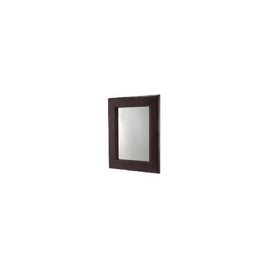 Faux Leather Mirror 122x92cm
