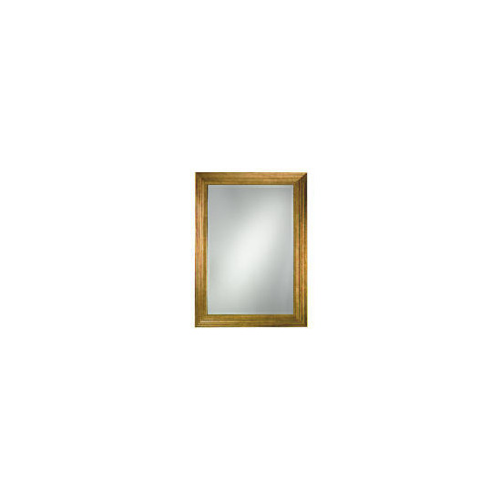 Gold Ribbed Mirror