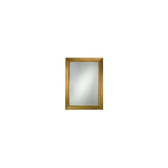 Gold Ribbed Mirror