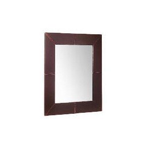 Photo of Tesco Faux Leather Mirror 70X60CM Home Miscellaneou