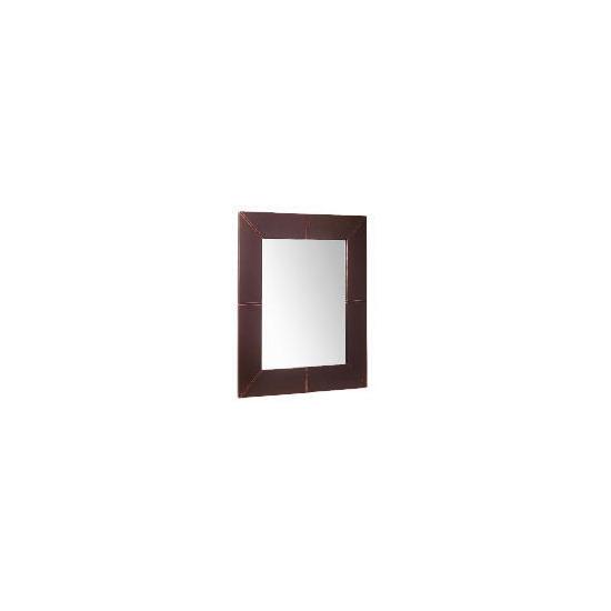 Tesco Faux Leather Mirror 70x60cm