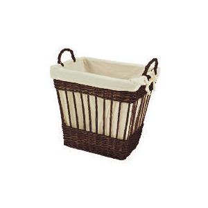 Photo of Wicker Lined Basket Chocolate Brown Household Storage