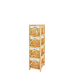 Wicker & wood 4 drawer unit Reviews