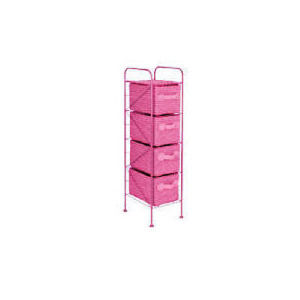 Photo of 4 Drawer Storage Tower Pink Household Storage