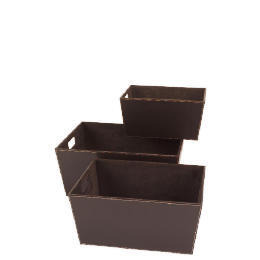 Faux leather storage baskets set of 3 Reviews