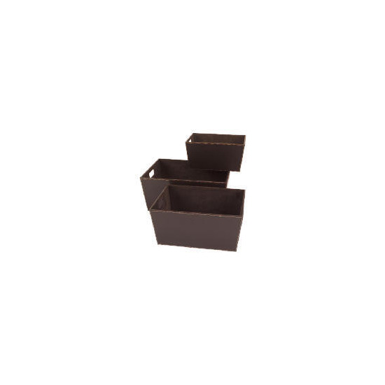 Faux leather storage baskets set of 3