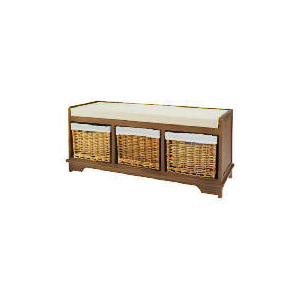 Photo of Storage Bench With Wicker Baskets Household Storage