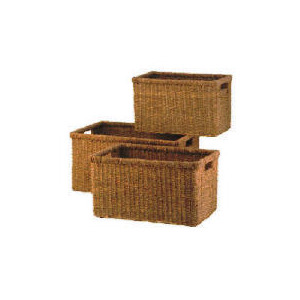 Photo of Set Of 3 Seagrass Baskets Household Storage