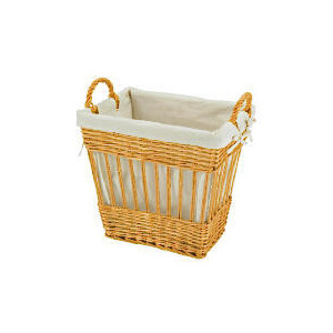 Photo of Wicker Lined Basket Light Brown Household Storage