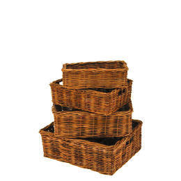 Rattan baskets 4 pack Reviews