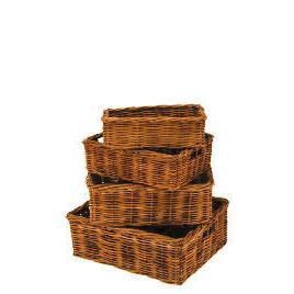 Rattan baskets 4 pack Reviews