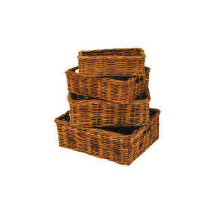 Photo of Rattan Baskets 4 Pack Household Storage