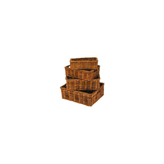Rattan baskets 4 pack
